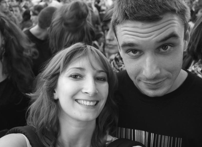 homme et femme dans le public des francofolies de la rochelle