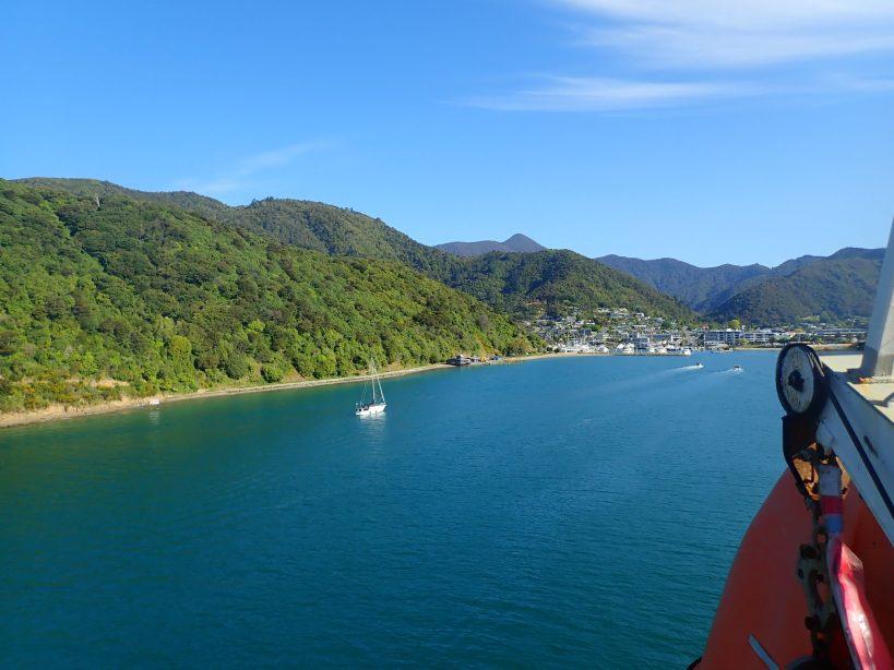 arrivée en ferry à Picton, fjord nouvelle-zélande