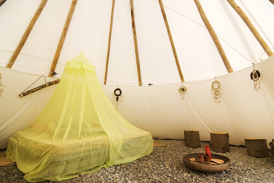 Tipi Tent Luxury Interior