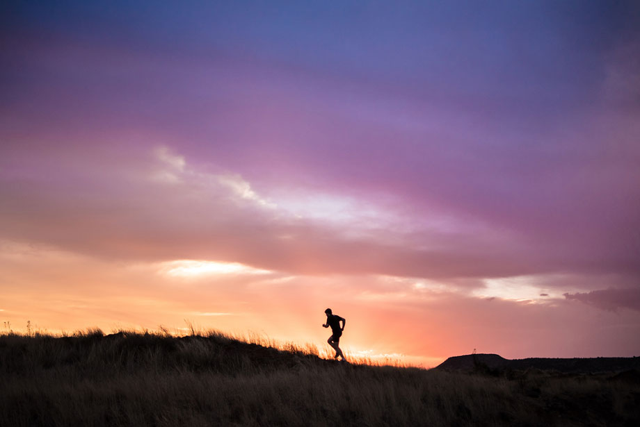 Man Exercising Outback