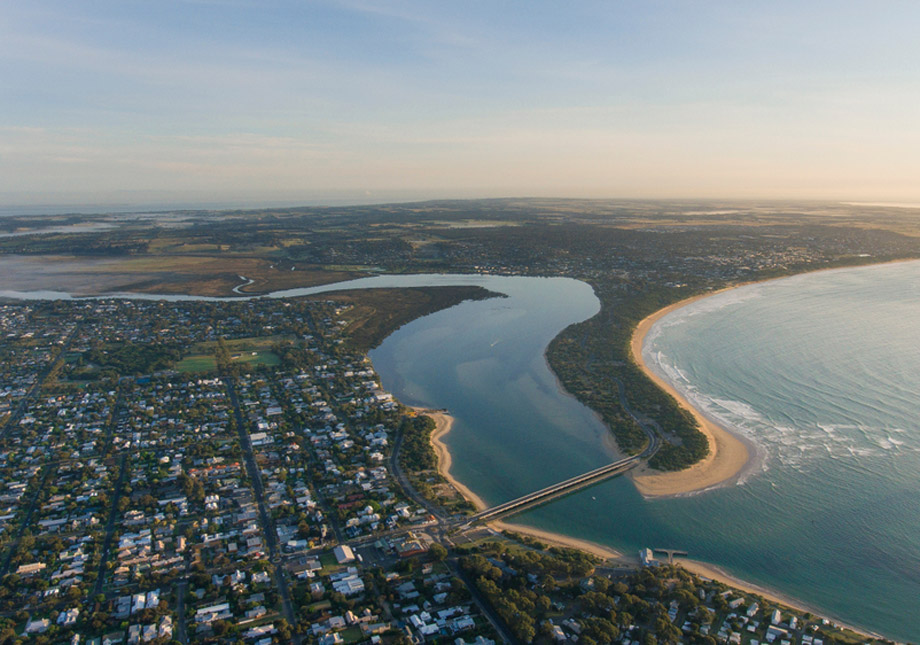 Aerial View Barwon Heads