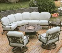 CASUAL DIRECT FIREPLACE FURNITURE GAS GRILL LIVING PATIO ...