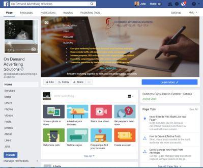 facebook business page screenshot