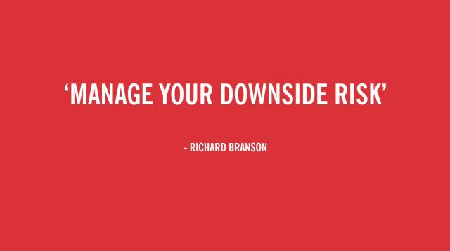 Lessons learned: Manage your downside risk