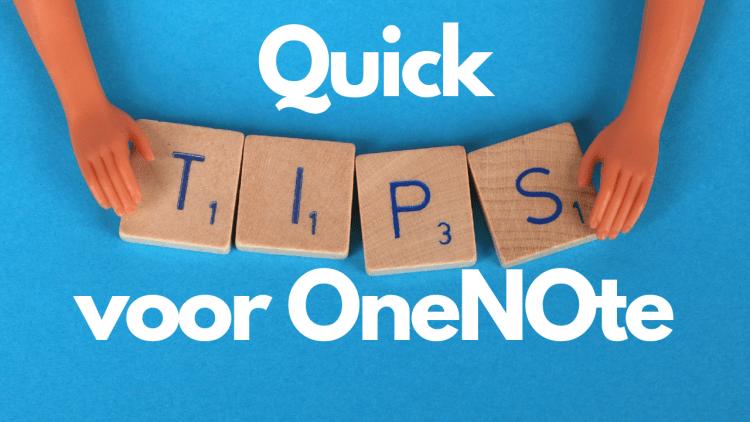 Quick Tips voor OneNote