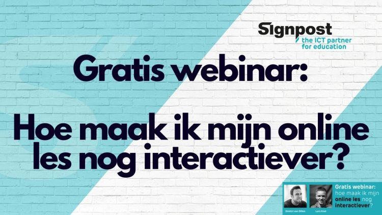 Gratis webinar: Hoe maak je jouw online lessen nog interactiever!?
