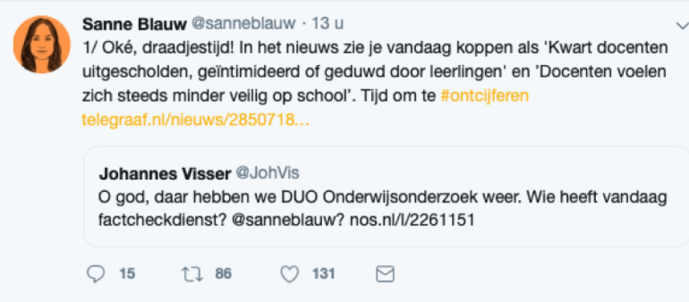 Sanne Tweet