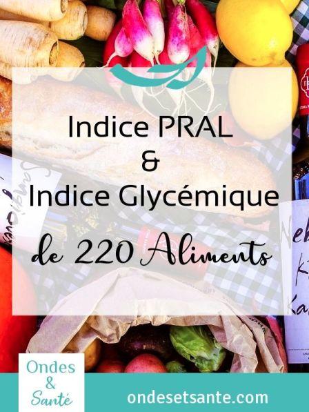 220 aliments en 9 tableaux : indice PRAL et Glycémique. Comment les utiliser ? Toutes ces informations en un clic. Lisez l'article !