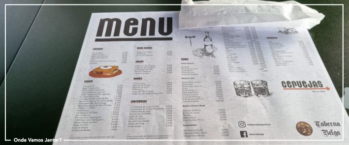 taberna belga menu