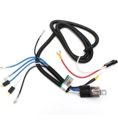 universal high efficient heat resistant 12v electric horn relay wiring harness kit for [ 950 x 950 Pixel ]