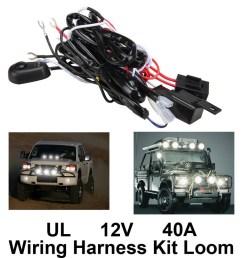 new high quality universal12v40a car fog light wiring harness kit loom for led work driving light [ 1000 x 1000 Pixel ]