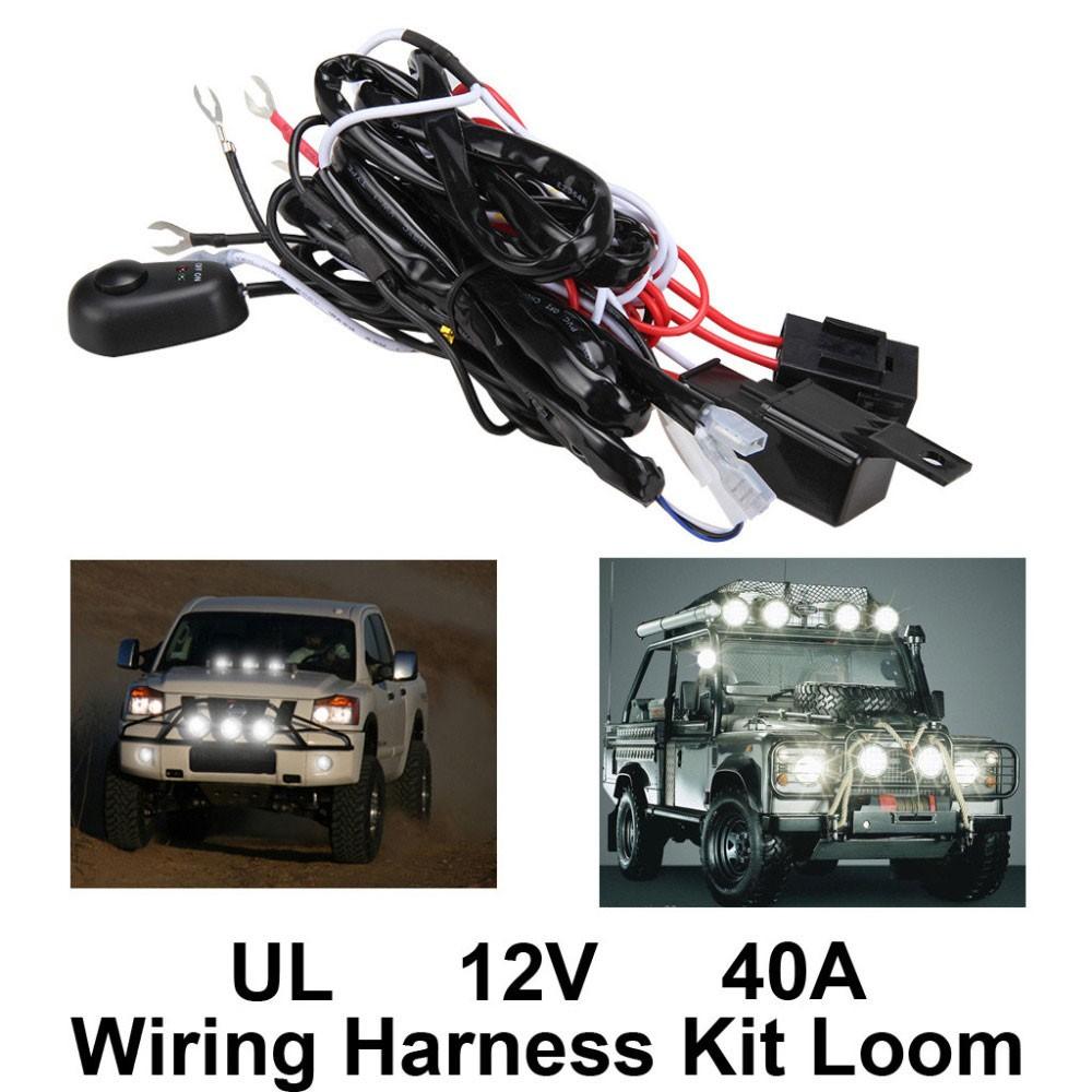 medium resolution of  new high quality universal12v40a car fog light wiring harness kit loom for led work driving light