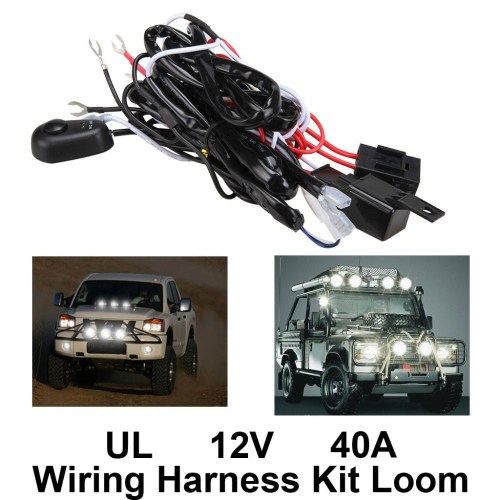 small resolution of  new high quality universal12v40a car fog light wiring harness kit loom for led work driving light