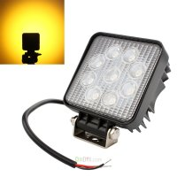 "4"" 27W Square Yellow Light LED Spotlight Car Work Light ..."