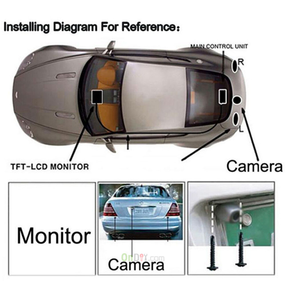 6w dc 12v 24v hd 800 x 480 7 inch color car rear view monitor 1 4 cmos car backup camera video transmitter and receiver kit [ 1000 x 1000 Pixel ]
