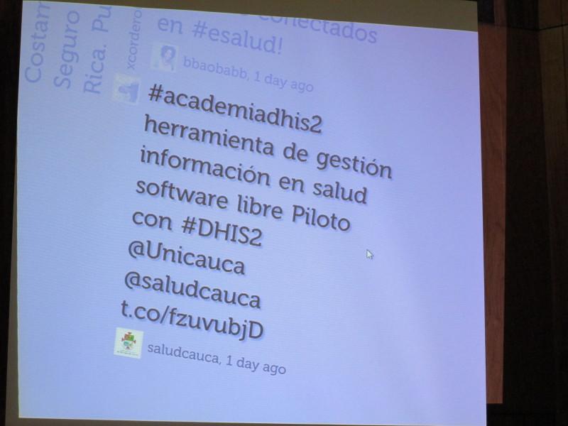 Academia DHIS seguimiento twitter