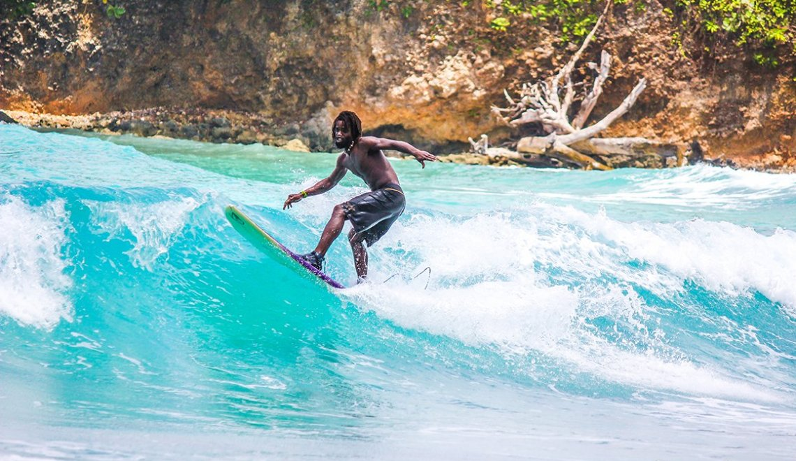 Surfing Boston Bay Jamaica
