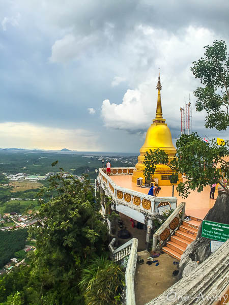 View of Pagoda Viewpoint Tiger Cave Temple Krabi Thailand