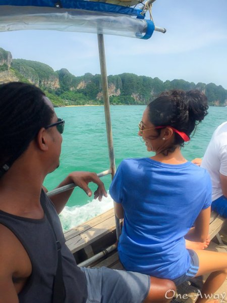 Longtail boat ride from Ao Nang to Railay