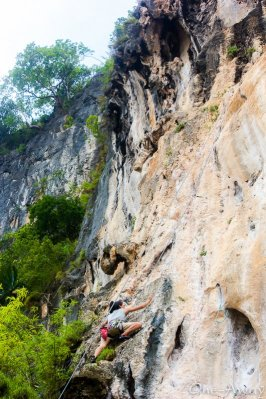 Rock Climbing East Railay Beach Krabi Thailand