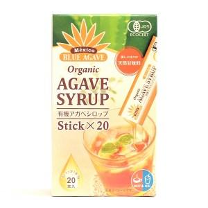 有機JAS認定 アガベシロップ スティック 7g×20本 低GI食品 携帯便利なスティック入り 糖質制限