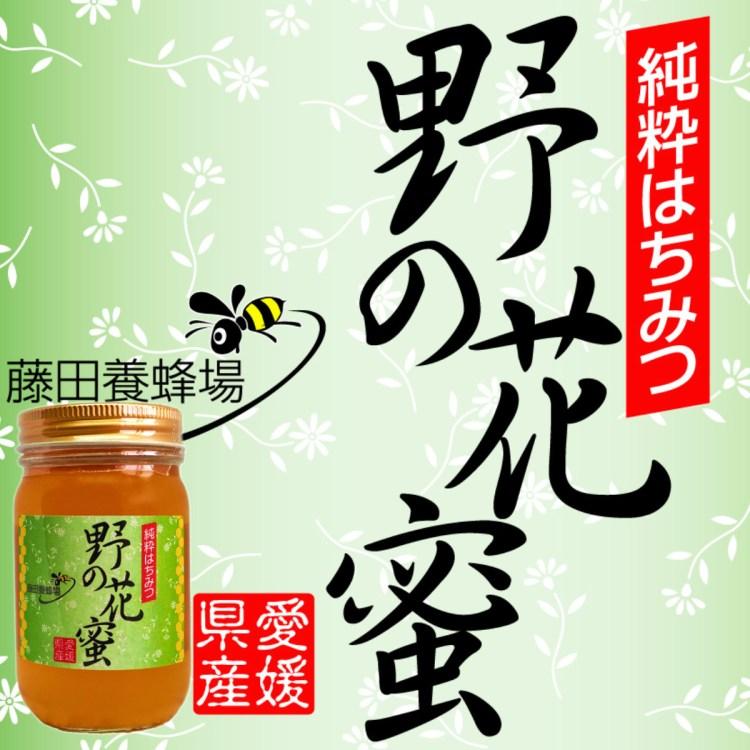 野の花蜂蜜 愛媛県伊予郡砥部町で採集された百花蜜 藤田養蜂場