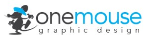 one-mouse graphic design logo
