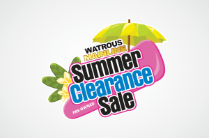 Watrous Mainline Summer Clearance Logo