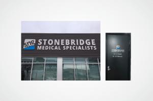 Stonebridge Medical Specialists laser cut sign