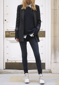 Veste blazer noire femme