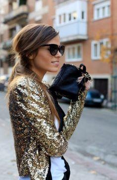 Glamour - Veste à sequins