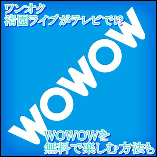 ONE OK ROCK渚園ライブがテレビWOWOWで!DVDには?放送日や発売日も