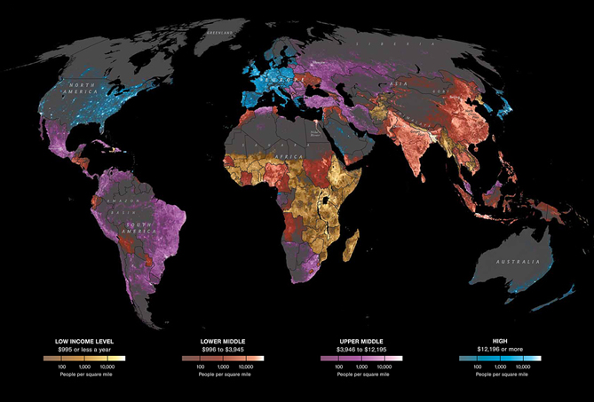 Global Internet Usage Knowledge Of Self - World internet usage map