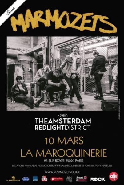 marmozets the amsterdam red-light district la maroquinerie paris concert