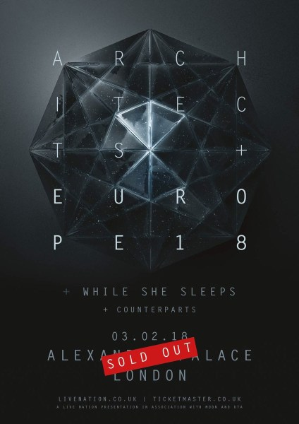 architects while she sleeps counterparts Alexandra palace London sold out