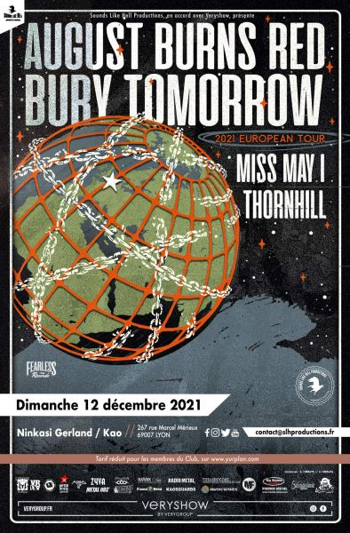 august burns red bury tomorrow miss may I thornhill sounds like hell productions veryshow