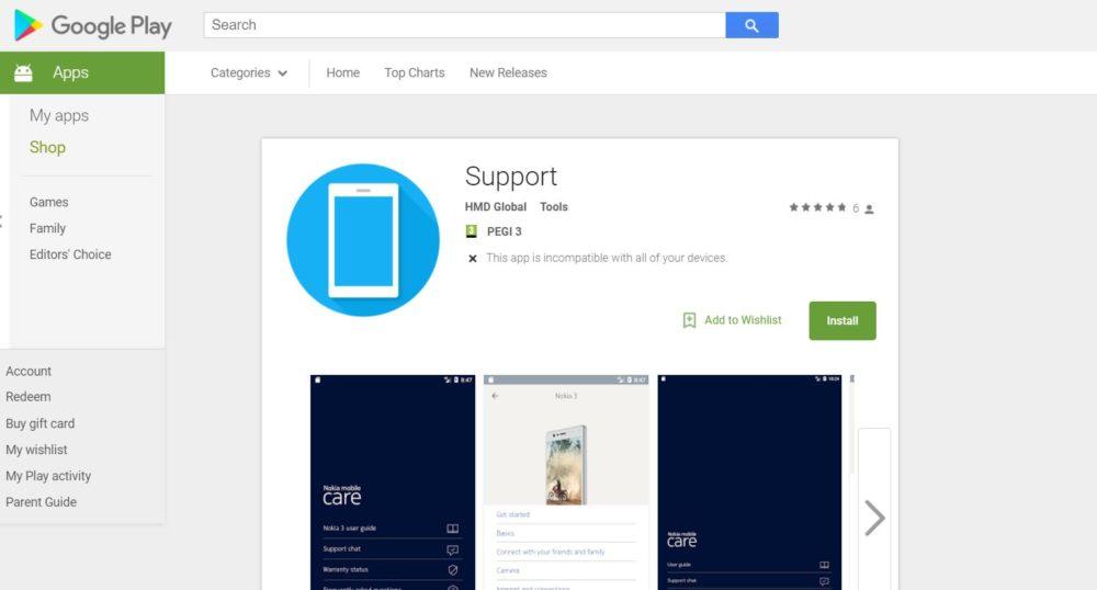 Nokia ya tiene su aplicación de soporte para Android en la Google Play