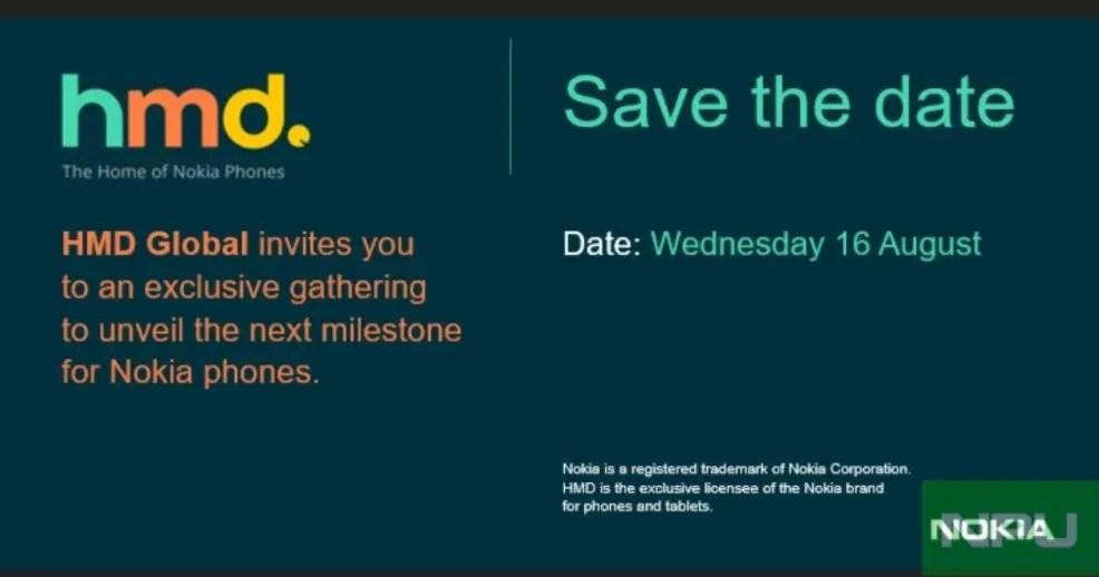 HMD envía invitaciones para un evento el 16 de Agosto, ¿Nokia 8 a la vista?