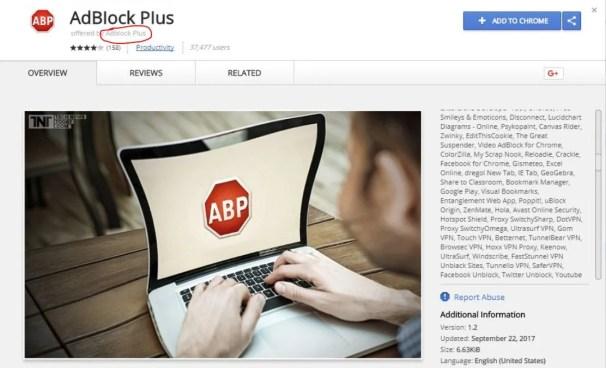 AdBlock Plus Fake