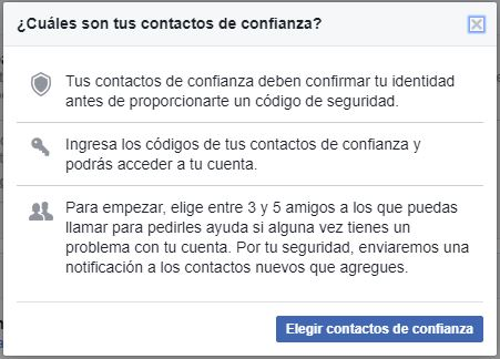 Verificación de cuenta Facebook