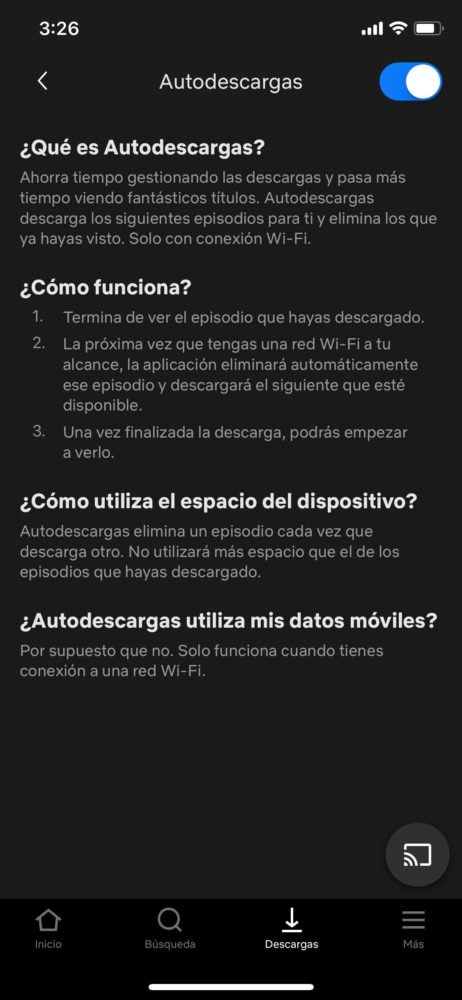 Smart Downloads iOs Netflix