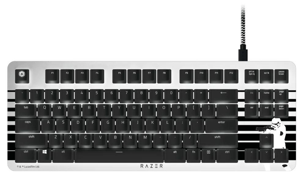 teclado Razer BlackWidow Lite Stormtrooper Edition