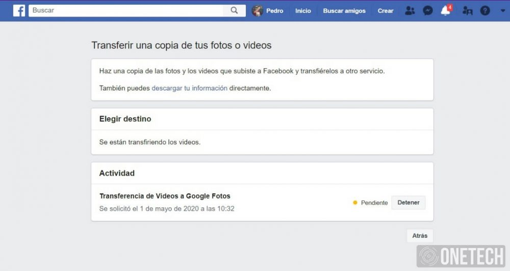 Transferir Fotos y Videos de Facebook a Google Fotos