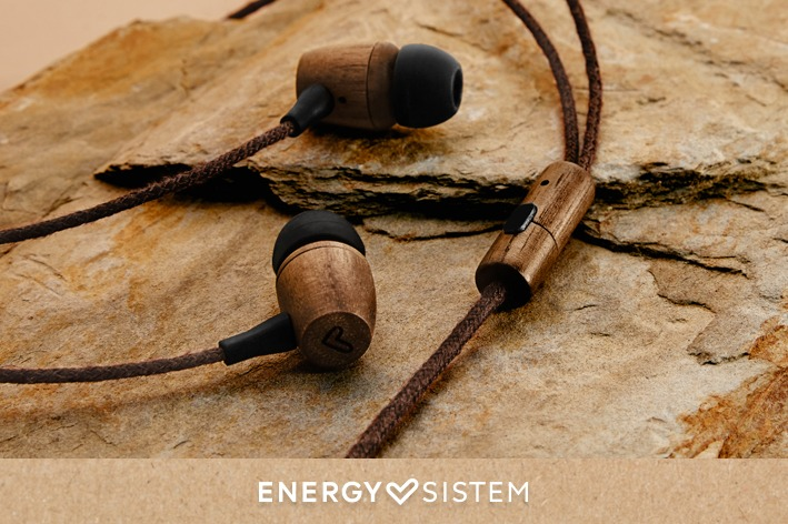Energy Sistem - Earphones Eco Walnut Wood