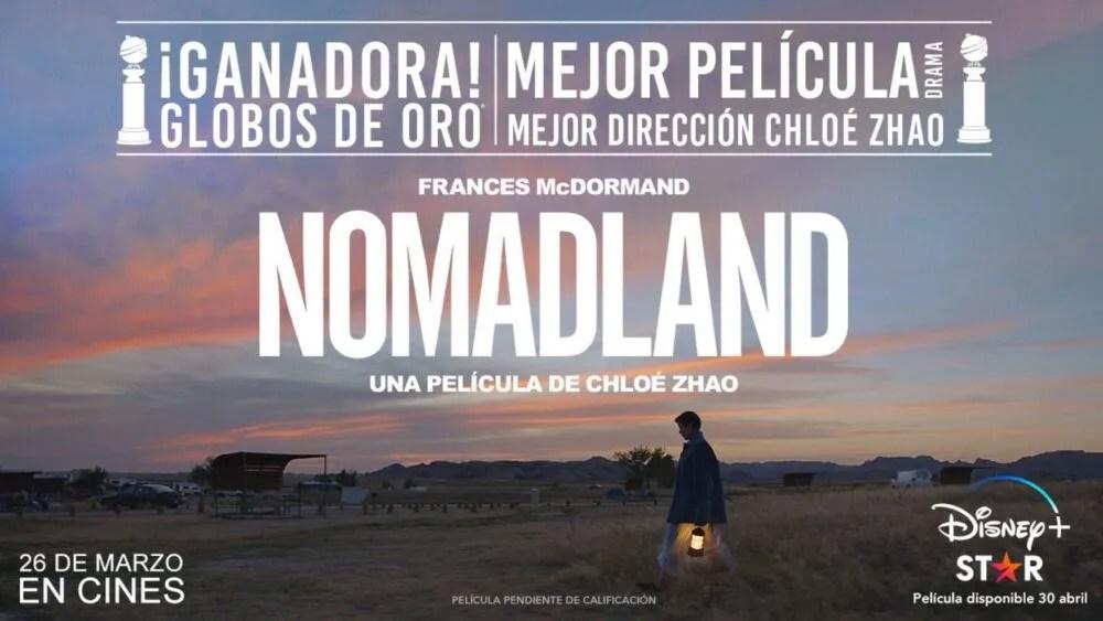 Disney+: los estrenos para Abril de 2021 nos traen la aclamada Nomadland 2