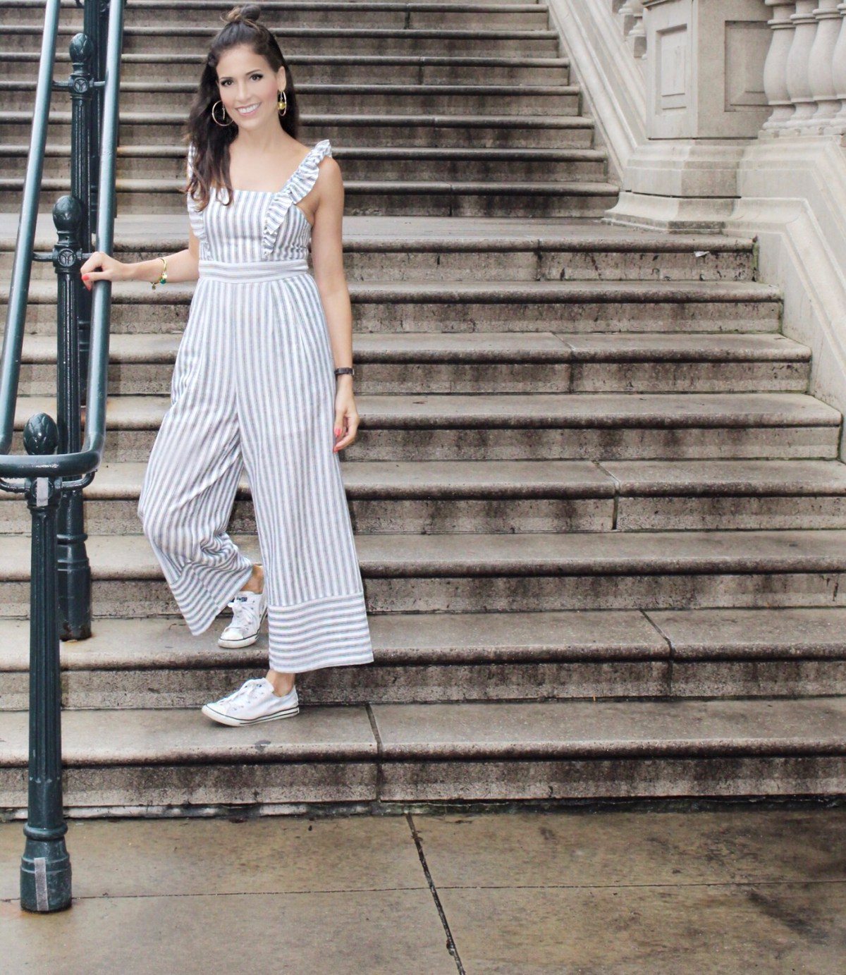 Jumpsuit–stripes