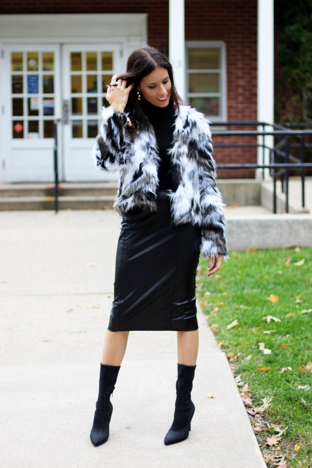 faux–leather–skirt