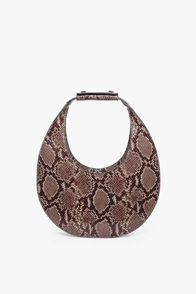 snake–print–moon–bag