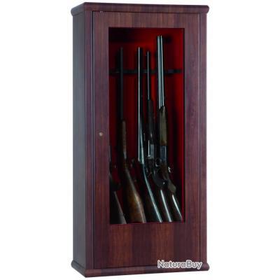 Armoire Forte WOOD LOOK PORTE VITREE SECURISEE 12 Armes