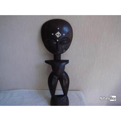 statuette ancienne sculture en bois art africain hauteur 31 5 cm